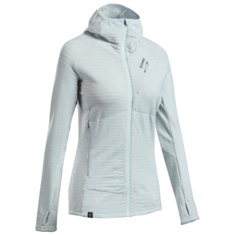 Klettersweatshirt Merinowolle Alpinism Damen grau