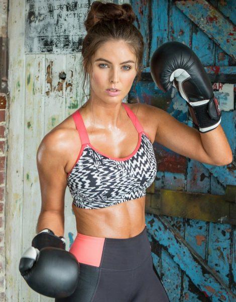 Pour Moi - Energy - Schwarzweiß bedruckter Sport-BH mit Bügeln-Mehrfarbig