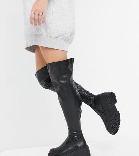 RAID Wide Fit - Paislee - Overknee-Stiefel in Schwarz