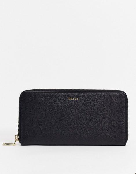 Reiss - Ava - Geldbörse aus Leder in Schwarz