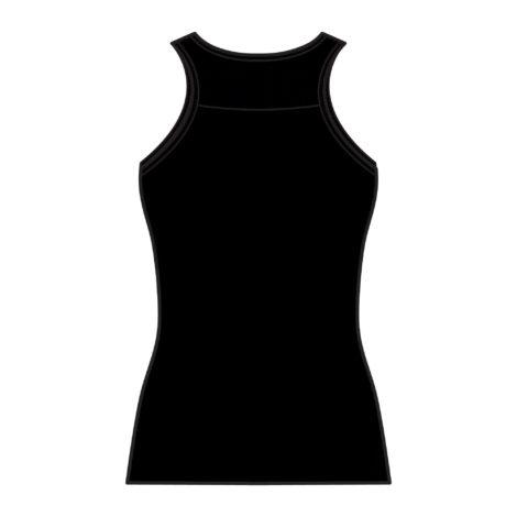 Top aus dehnbarer Baumwolle Fitness mit integriertem Bustier schwarz