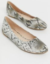 Truffle Collection - Easy - Ballerinas mit Schlangenmuster-Grau