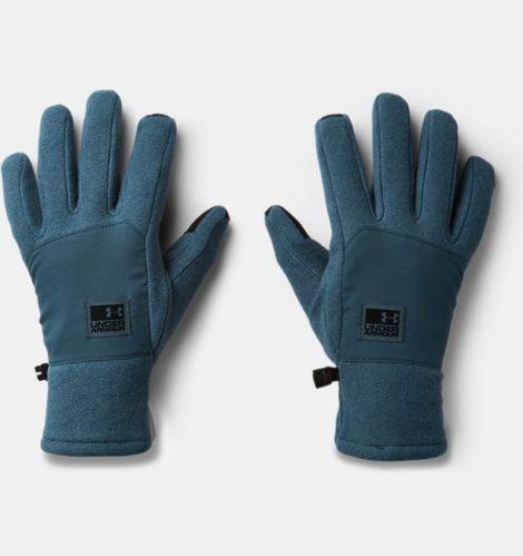 Under Armour Herren ColdGear Infrared® Fleece-Handschuhe Blau SM