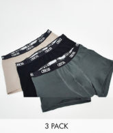 ASOS DESIGN - 3er-Pack Unterhosen-Mehrfarbig