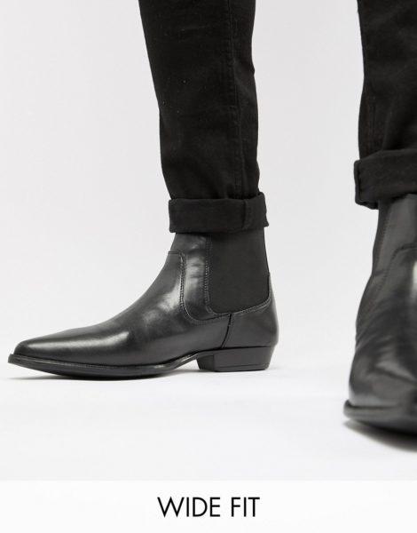 ASOS DESIGN - Chelsea-Stiefel aus schwarzem Kunstleder