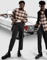ASOS DESIGN - Oversize-Hemd in Beige mit Schottenmuster im Stil der 90er