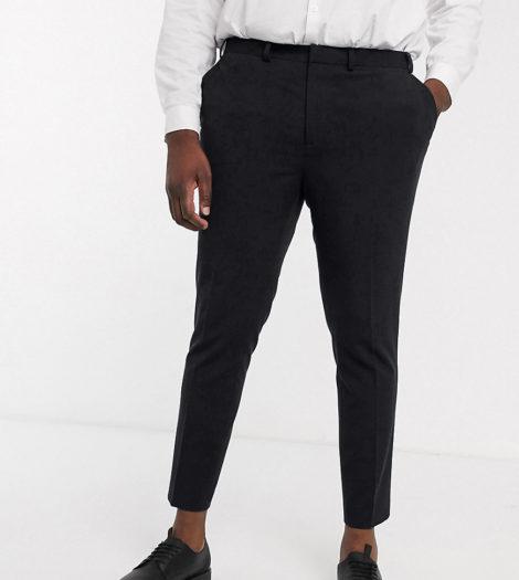 ASOS DESIGN - Plus - Schwarze, elegante Super Skinny Hose