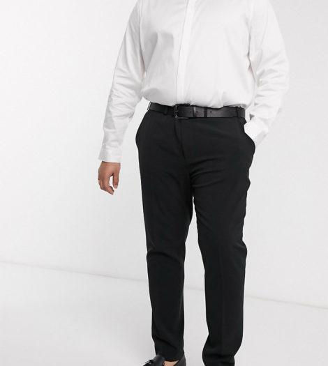 ASOS DESIGN Plus - Superenge elegante Hose in Schwarz