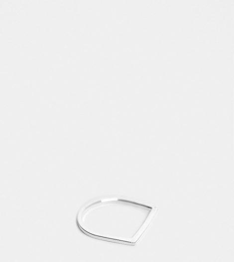 ASOS DESIGN - Ring aus Sterlingsilber mit flachem Stegdetail