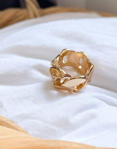 ASOS DESIGN - Ring mit Kettendesign, goldfarben