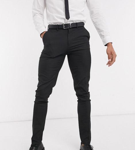 ASOS DESIGN Tall - Enge, elegante Hose in Schwarz