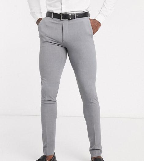 ASOS DESIGN Tall - Superenge, elegante Hose in Grau