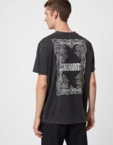 AllSaints - Filgree - T-Shirt in Schwarz