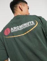 Arcminute - Grünes T-Shirt mit Print hinten