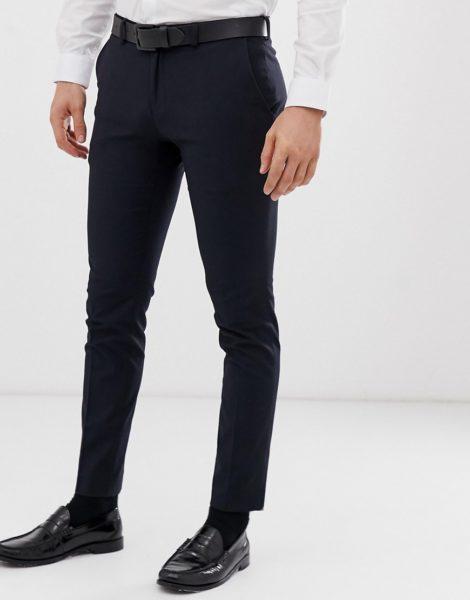 Burton Menswear - Superenge, elegante Skinny-Hose in Marineblau-Navy
