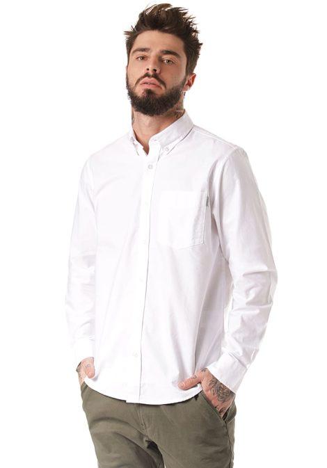 Carhartt WIP Button Down Pocket L/S - Hemd für Herren - Weiß
