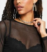 DesignB London - Exklusive, kurze Halskette mit Kettenglieder-Design in Gold