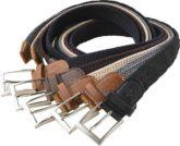 Franco Bettoni Stretchgürtel (Packung, 5er-Pack) Angenehm dehnbar und stufenlos verstellbar