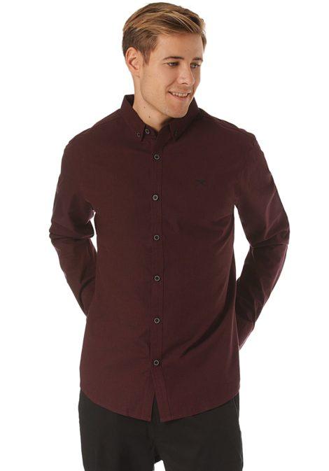 Iriedaily Samuel L/S - Hemd für Herren - Rot