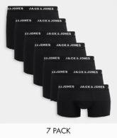 Jack & Jones - 7er Packung schwarze Unterhosen