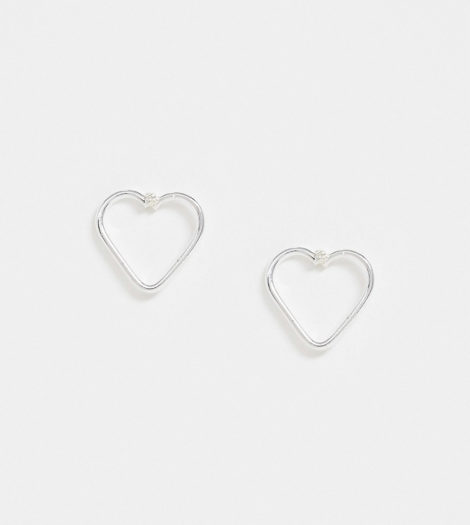 Kingsley Ryan - Ohrstecker aus Sterlingsilber mit ausgeschnittenem Herzdesign