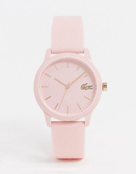 Lacoste - 12.12 rosa Silikon-Armbanduhr