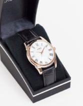 Limit - Uhr mit Armband aus Kunstleder in Schwarz mit weißem Zifferblatt