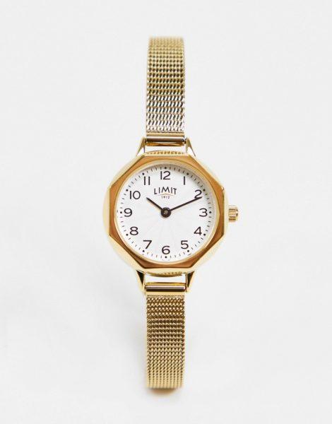 Limit - Uhr mit Netzarmband in Gold mit Zifferblatt in Silber/Weiß