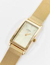 Limit - Uhr mit Netzarmband und eckigem Zifferblatt in Gold
