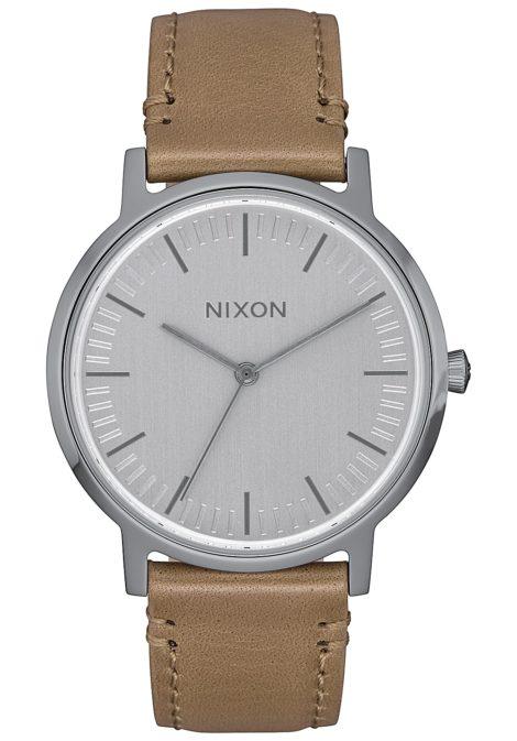 NIXON Porter 35 Lthr - Uhr für Damen - Grau
