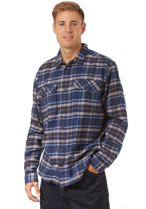 Patagonia L/S Fjord Flannel - Hemd für Herren - Blau