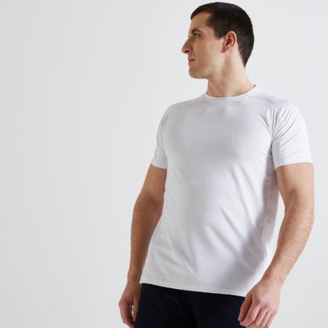T-Shirt FTS 500 Fitness Cardio Herren weiss Ecodesign