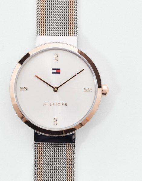Tommy Hilfiger - Sunray 1782221 - Armbanduhr aus Metall und Netzstoff-Mehrfarbig