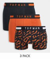 Topman - 3er-Pack Unterhosen mit Logo-Bund in verschiedenen Farben-Mehrfarbig