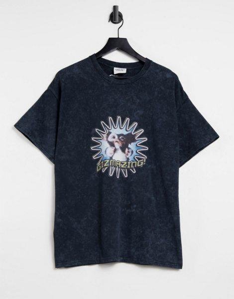 """Vintage Supply - T-Shirt in Schwarz mit """"Gizmazing""""-Print"""