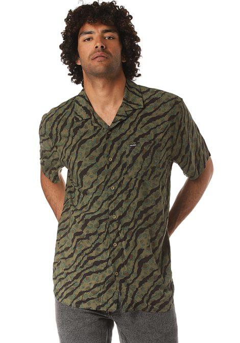 Volcom Embertone S/S - Hemd für Herren - Grün