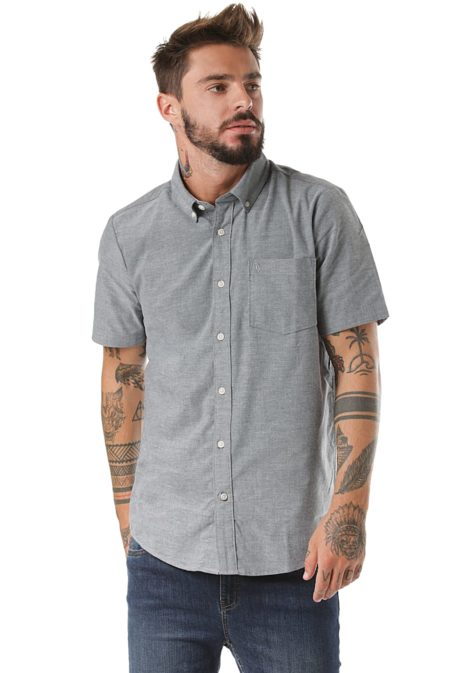 Volcom Everett Oxford S/S - Hemd für Herren - Grau
