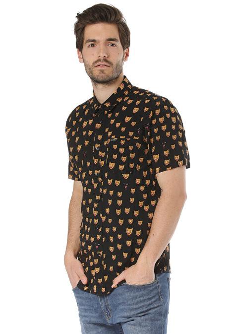 Volcom Ozzie Cat S/S - Hemd für Herren - Schwarz