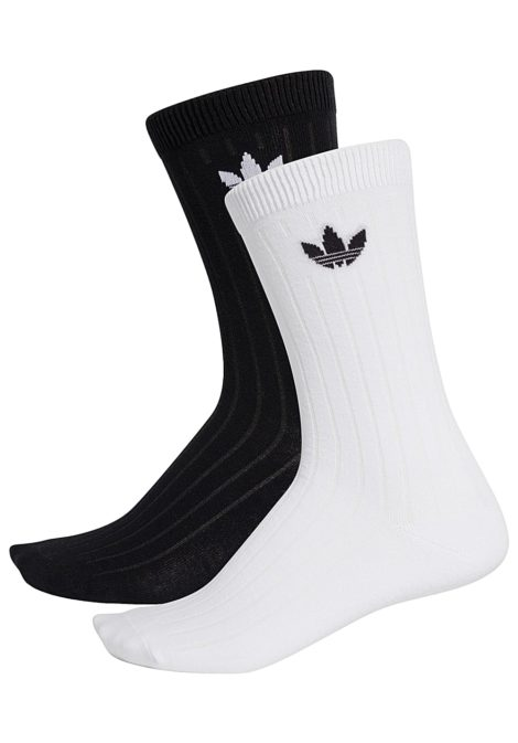 adidas Originals Mid Rib Crew 2 Pack - Socken für Herren - Schwarz