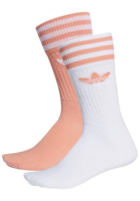 adidas Originals Solid Crew 2 Pack Socken - Pink