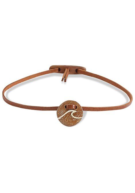 float Amulet Wave - Armband für Damen - Braun