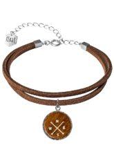float Bracelet Vegan Lthr Compass - Armband für Damen - Braun