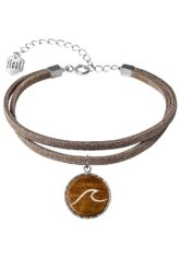 float Bracelet Vegan Lthr Wave - Armband für Damen - Grau