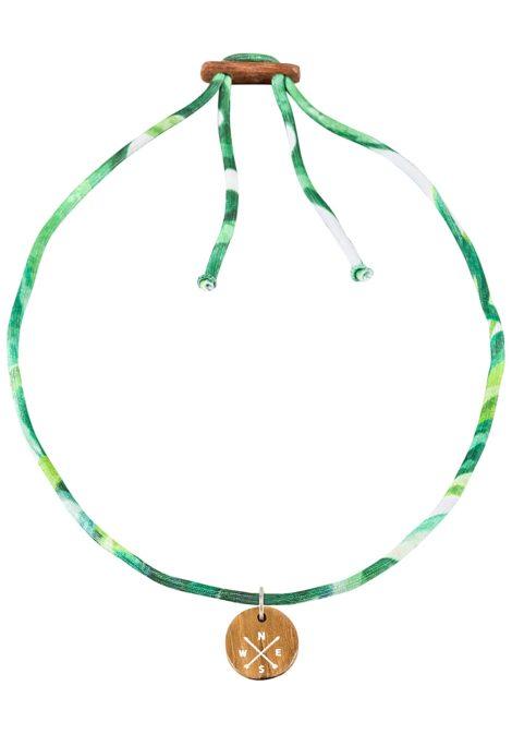 float Choker Compass - Halskette für Damen - Grün