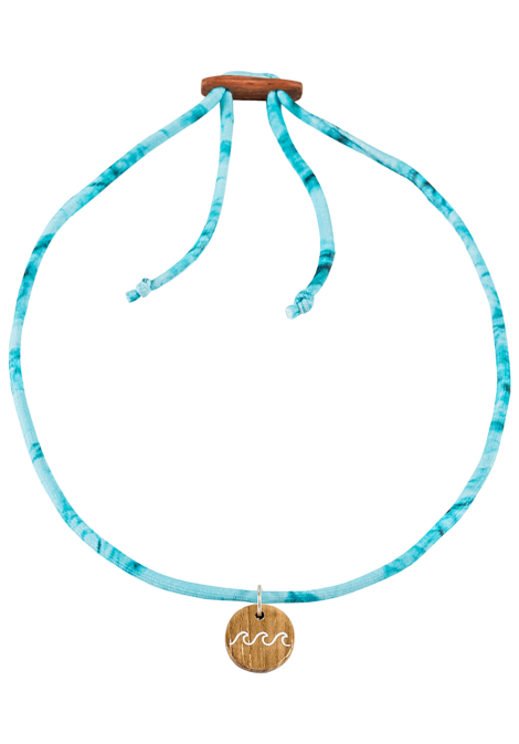 float Choker Wave - Halskette für Damen - Blau