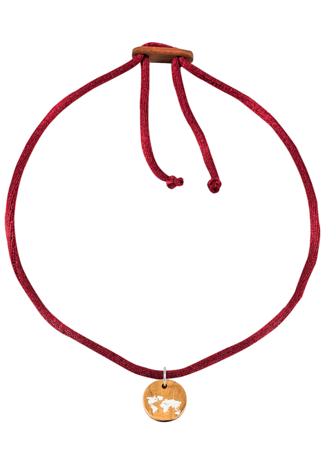 float Choker World - Halskette für Damen - Rot