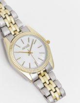 Anaii - Armbanduhr mit Kontrastdesign-Silber