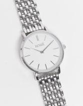 Anaii - Armbanduhr mit klassischem Zifferblatt-Silber