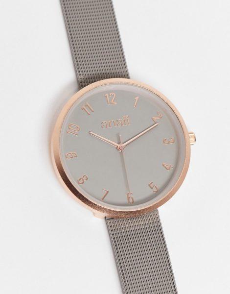 Anaii - Uhr in Grau mit Netzarmband und grauem Zifferblatt