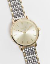 Anaii - Zweifarbige Armbanduhr-Silber